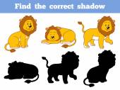 Find the correct shadow (lion) — Stock Vector