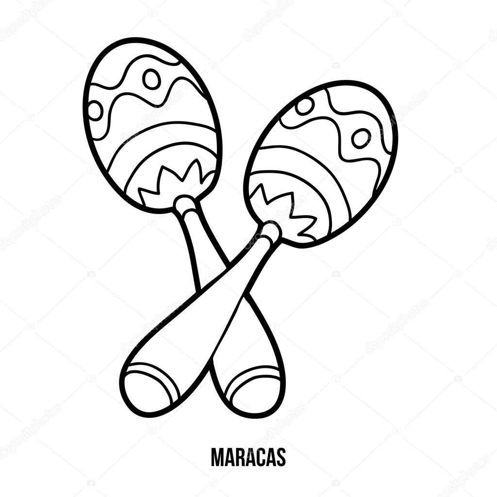 Maracas Coloring Coloring Pages Maracas Coloring Pages