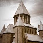 ������, ������: Sepia tone of St John the Evangelist Roman Catholic Church Schenectady NY