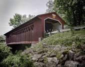 Silk Road Covered Bridge in Bennington, Vermont — Stock Photo