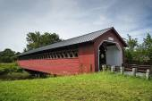 Paper Mill Covered Bridge — Stock Photo