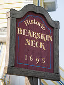Bearskin Neck Welcome Sign - Rockport, MA — Stock Photo