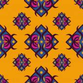 Seamless pattern with diamond-shaped ornament — 图库矢量图片