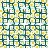 Seamless pattern with yellow circle — 图库矢量图片