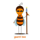 Guard bee — Stock Vector