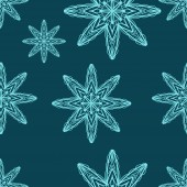 Seamless pattern with snowflakes. drawing hands — Stockvektor