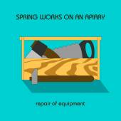 Repair equipment (spring work) — Wektor stockowy