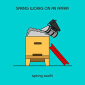 Spring audit (spring work) — Stock vektor