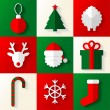 Set of Christmas and New Year icons — Stock Vector #57605999
