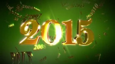 New Year 2015 Lopable Background — Wideo stockowe