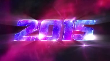 New Year 2015 Loopable background — Stock Video