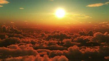 Bulutlar uçuş — Stok video