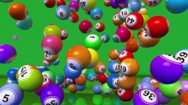 Falling Lotto or Bingo Balls animation — Stock Video