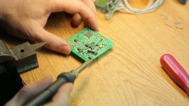 Job soldering, close-up — Stock Video