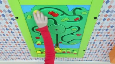 Girl playing educational games — Stock Video