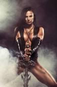 Sexy Warrior Woman — Stock Photo