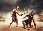 Gladiator won — Stock Photo