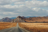 Road in the mountains of Altay. one of the roads — Stock Photo