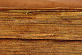 Close up vintage book spines — Stock Photo