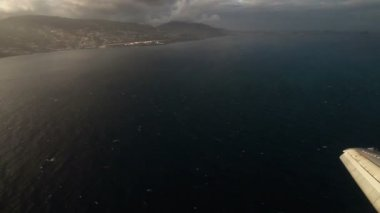 Clouds from the airplane — Stock Video
