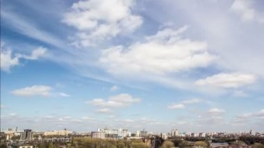 Timelaps city and sky — Vídeo de stock
