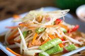 "Zoom papaya salad Thailand food call ""som tum Thai""  — Stock Photo"