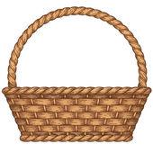 Empty woven basket — Stock Vector