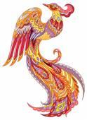 Phoenix firebird — Stock Vector