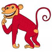 Red monkey is a symbol of the year — Stock Vector