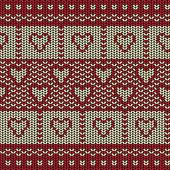 Tkanina tło wzór linii z miłości serca — Wektor stockowy