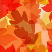 Autumn leaves seamless pattern. Vector illustration — Stock Vector