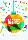 Merry Christmas Greeting Card. Vector illustration — Stock Vector