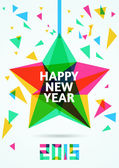 Happy New Year 2015 Greeting Card vector illustration  — Stock Vector