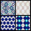 Set of seamless patterns. Abstract geometric wallpaper. Vector — Stock Vector #52408683