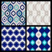 Set of seamless patterns. Abstract  geometric wallpaper. Vector  — Stock Vector