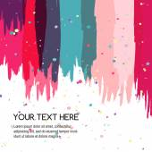 Colorful abstract watercolor brush background, vector template — Stock Vector