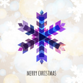 Abstract colorful vector snowflake with winter background. Chris — 图库矢量图片