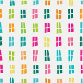 Vector seamless hand-drawn pattern with cartoon colorful window — Stock Vector