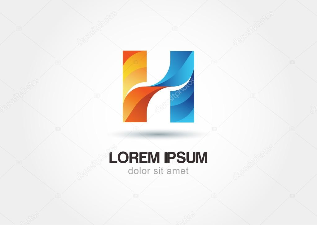 h Letter Logo Design Logo Design Letter h
