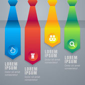 Colorful arrow tie infographics elements. Vector illustration ba — Wektor stockowy