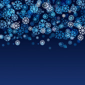 Abstract blurred lights and snowflakes background with space for — 图库矢量图片