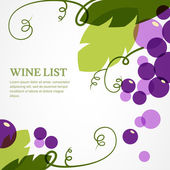 Branch of grape with leaves. Abstract vector background design t — Stock Vector