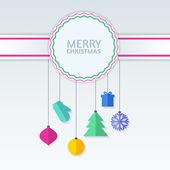 Vectores colorido abstracto adornos en divisa. Navidad o año nuevo — Vector de stock