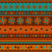 Abstract vector ethnic seamless pattern. Use for wallpaper, patt — Stock Vector