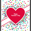 Happy Valentines Day greeting card with hearts background. Vector illustration. Wedding invitation. — Stock Vector #60924811