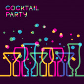 Abstract colorful cocktail glass background. Concept for bar men — Stock Vector