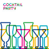 Abstract colorful cocktail glass seamless background. Concept fo — Stock vektor