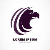 Vector logo design template. Bird head silhouette icon. Business — Vettoriale Stock