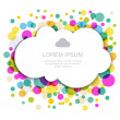 Cloud silhouette with colorful circles. Vector illustration, mod — Stock Vector #65472625