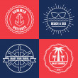 Set of sea and summer nautical signs, badges and labels. Vector  — Stock Vector #69946695